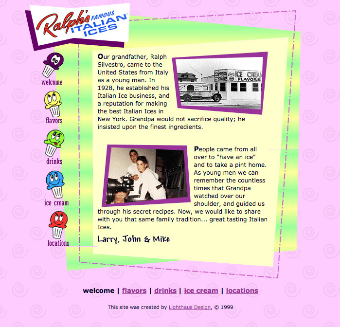 1999 – Ralph's Launches Its First Website
