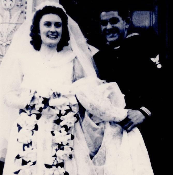 1945 – Grandpa Ralph's Niece Connie Marries